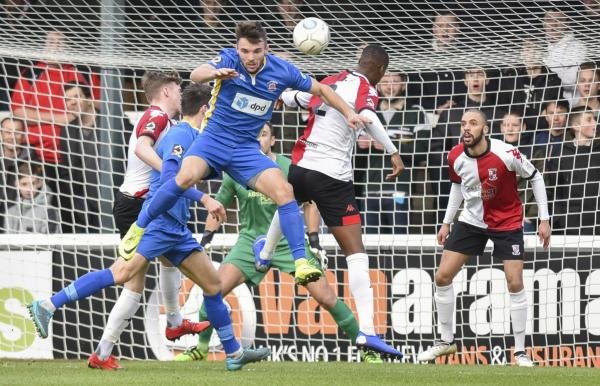 Lloyd Dawes rises high at Woking