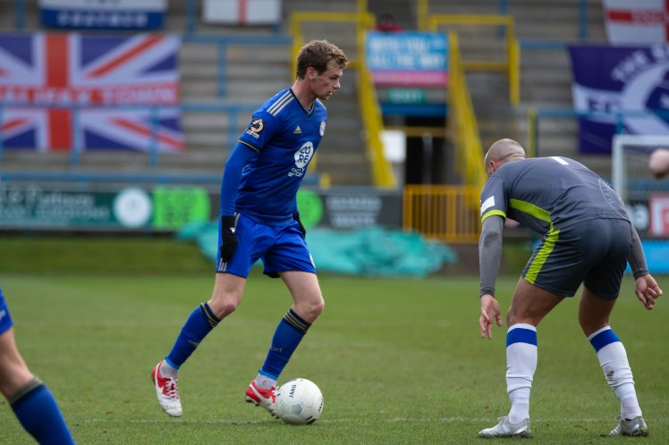 Actions from FC Halifax Town v Halesowen, FA Trophy match at the Shay