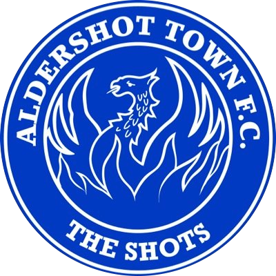 This image has an empty alt attribute; its file name is aldershot-town-badge.png